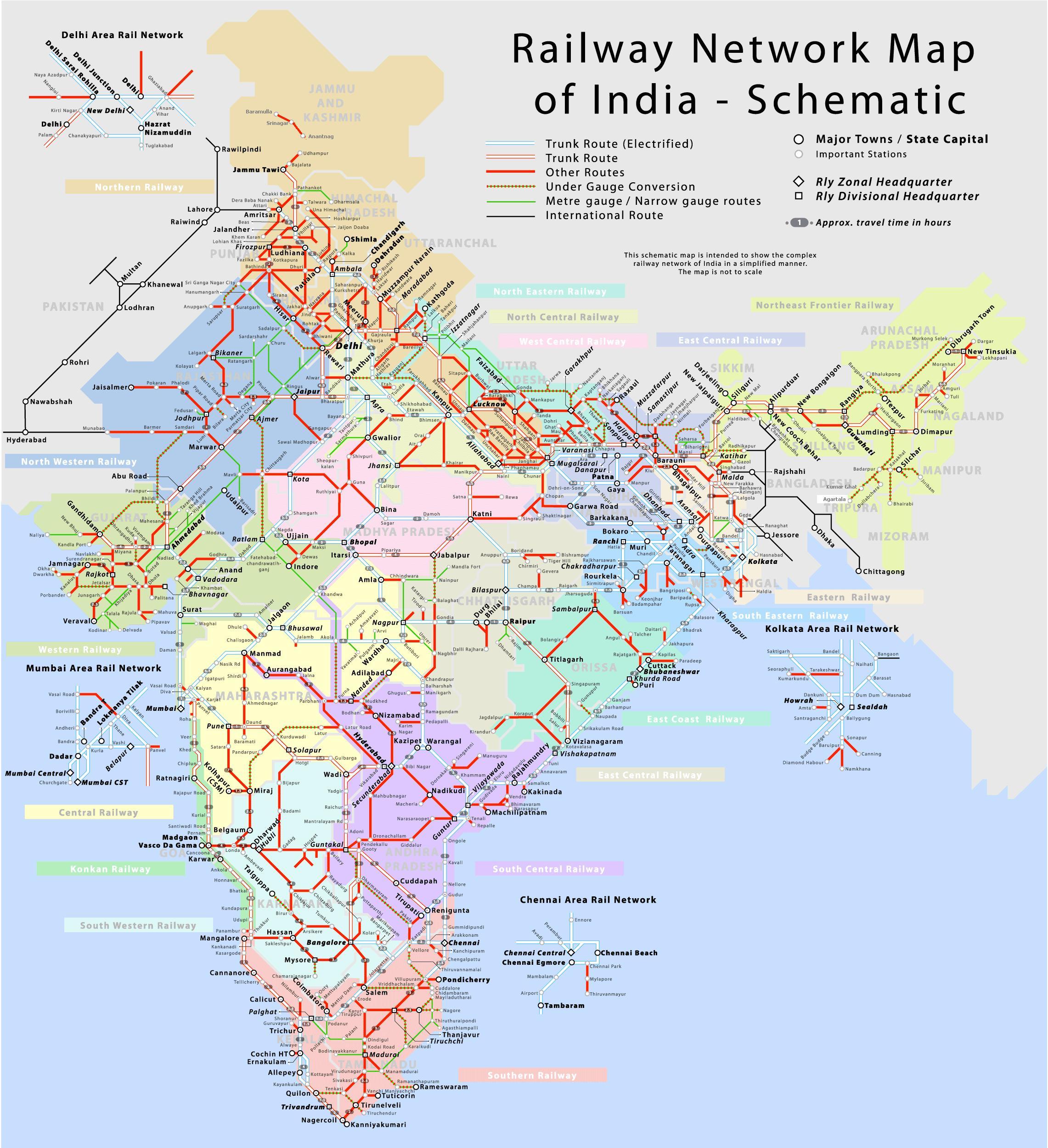 Karta Och Avstand.Indien Jarnvag Karta Med Avstand Jarnvagen Karta Over Indien Med