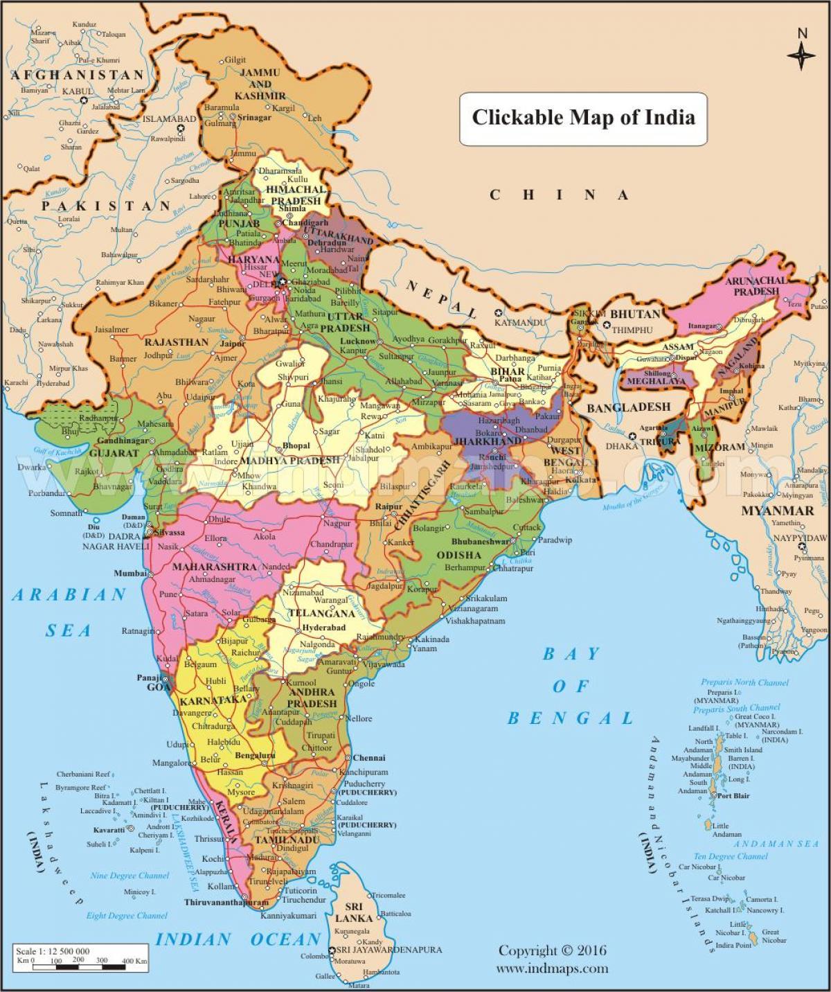 Indien Karta Bild Bilden Av Indien Karta Sodra Asien Asien