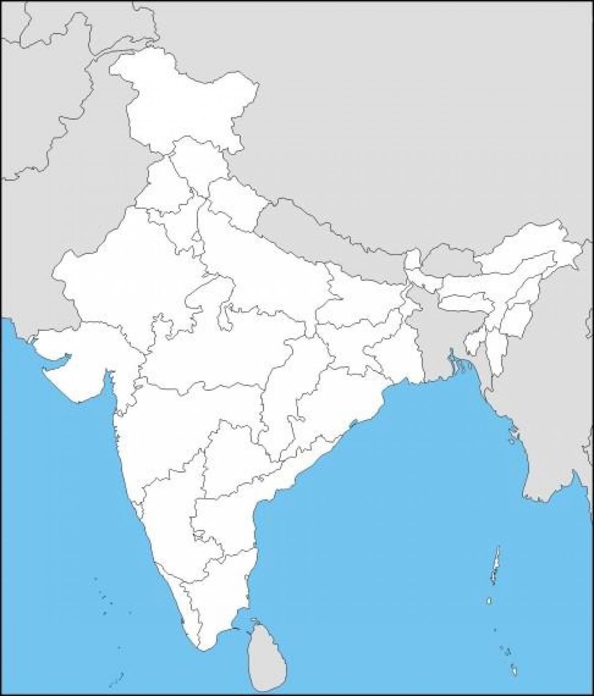 Indien Karta Quiz Karta Over Indien Fragesport Sodra Asien Asien