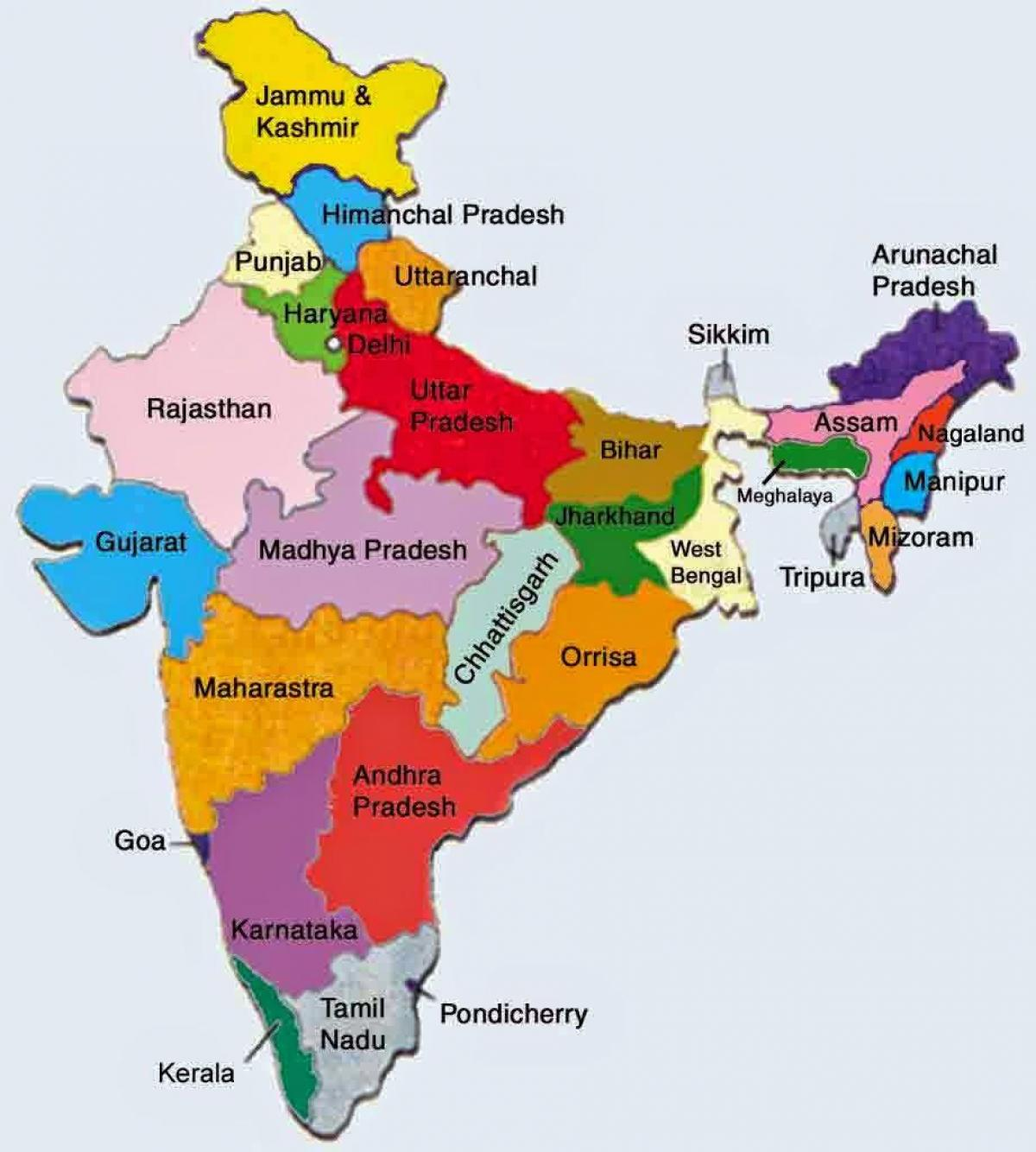 indien karta kerala Visa Indien karta med stater   Indien karta och stater (Södra  indien karta kerala